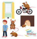 Mouse and Motorcycle Clip Art Set