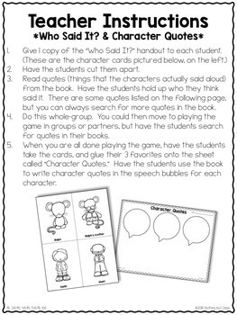 Mouse and the Motorcycle: End of the Book Reading Response Activities Projects