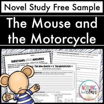 The Mouse and the Motorcycle Novel Study Unit: FREE Sample