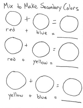 Mouse color worksheets