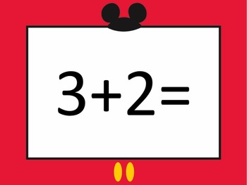 Mouse de Mickey Addition PowerPoint for facts to 5