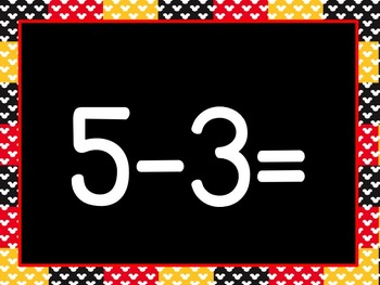 Mouse de Mickey Subtraction Math Facts to 5