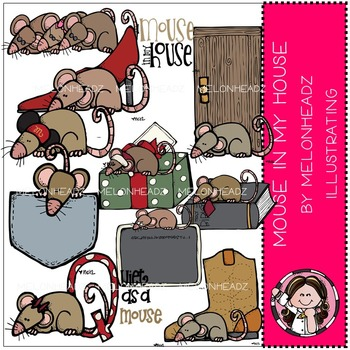 Mouse in my house clip art - COMBO PACK- by Melonheadz