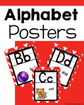 Disney Inspired version 2 ALPHABET POSTERS
