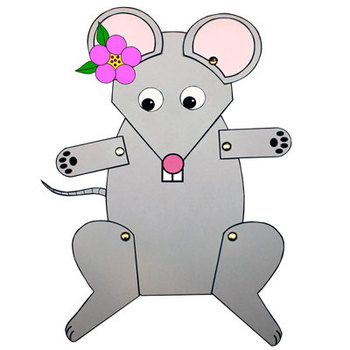 Mouse (or Rat) Paper Puppet