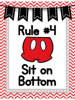Mouse rules- red chevron