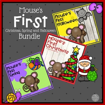 Mouse's First Holiday Set of Three SPRING HALLOWEEN AND CHRISTMAS!