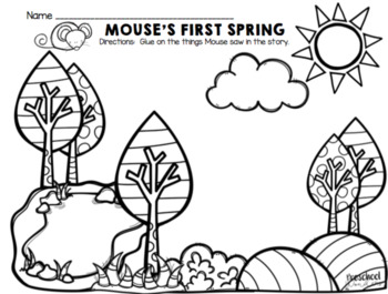 Mouse's First Spring Retelling Freebie!