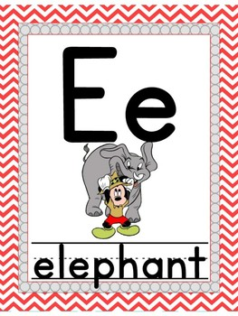 Mouse themed ABCs