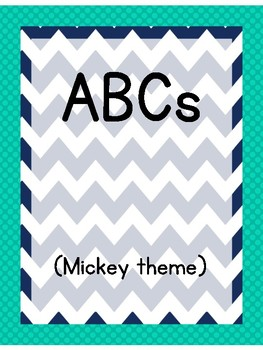 Mouse themed ABCs-teal/navy