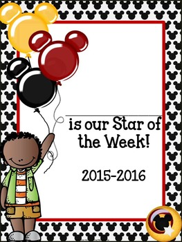 Star of the Week: Mousey Themed Star Student of the Week Pack