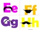Moustache Alphabet (Word Wall Tags)