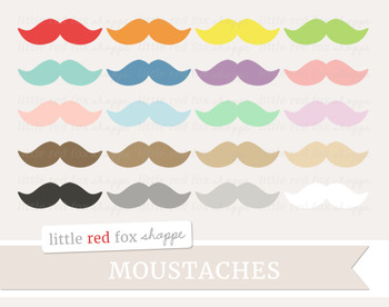 Moustache Clipart; Mustache, Manly, Beard