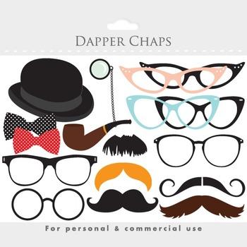Moustache clipart, mustache clip art, eyeglass, glasses, moustaches, posh