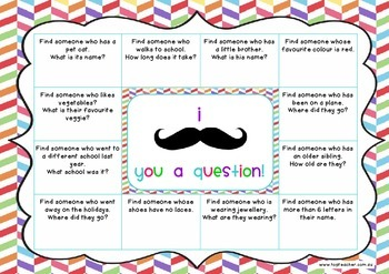 Moustache you a question ~ a getting to know you questionnaire