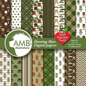 Moustaches Digital Papers, Movmember Papers {Best Teacher Tools} AMB-1877