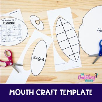 Mouth Craftivity For Speech & Language