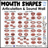 Mouth Shapes for Phoneme Articulation Sound Wall Clip Art Bundle