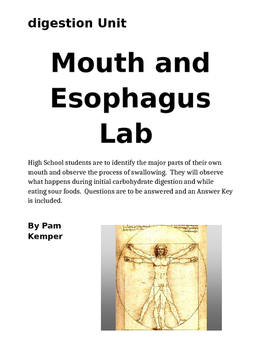 Mouth and Esophagus Lab