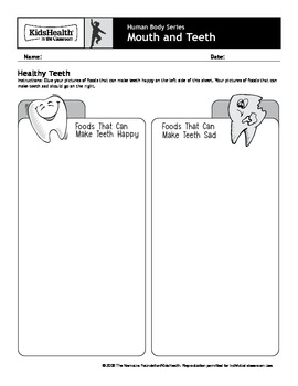 Mouth and Teeth Teacher's Guide (Pre-K to Grade 2)