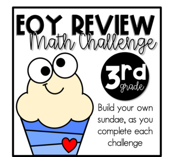 Mouthful of 3rd-Math Challenge {EOY review}