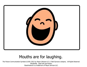 Mouths are Not for Spitting Social Story
