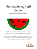 Mouthwatering Math -- Sums & differences to 10