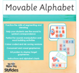 Movable Alphabet with Pictures, Words and Punctuation Marks