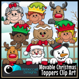 Movable Christmas Toppers Clip Art - Movable Christmas Fac