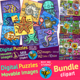 Movable Clipart | Digital Puzzles | BUNDLE