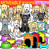 Movable Clipart Images Dogs (Moveable Clip art Images Pieces)