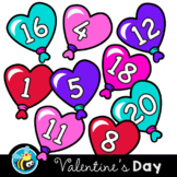 Movable Digital Clipart - Valentine's Day Number Hearts