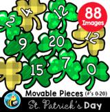 Movable Digital Clipart - St. Patrick's Day Number Shamrocks