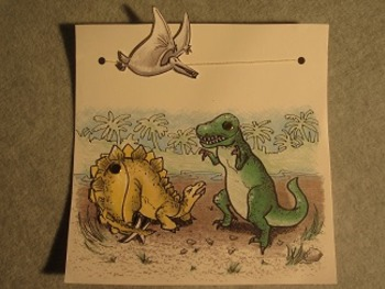 Movable Dinosaurs. Fun Craft Art