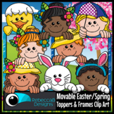 Movable Easter Spring Toppers Clip Art - Movable Easter Fa