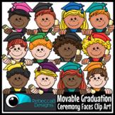 Movable Graduation Ceremony Faces Clip Art - Graduation Ki