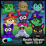 Movable Halloween Toppers Clip Art - Halloween Faces Clip Art