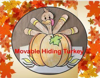 Movable Hiding Turkey By Inlightining Teachers Pay Teachers