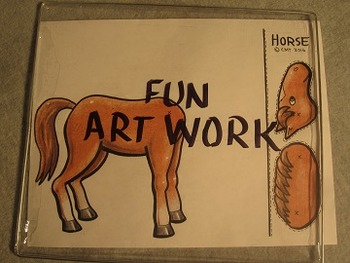 Movable Horse. Fun Craft Art