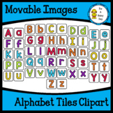 Movable (Moveable) Images-Rainbow Brights Alphabet Tiles Clipart