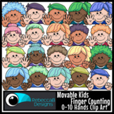 Movable Kids Finger Counting 0-10 Hands Clip Art - Movable