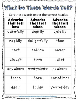 Movable Literacy Adverb Sorts