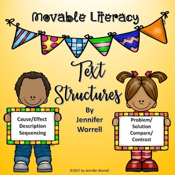 Movable Literacy Text Structures Unit: Passages, Sorts, and Graphic Organizers