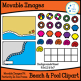 Movable/Moveable Images- Beach & Pool Clipart (8.5x11 & Bo