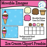 Movable/Moveable Images-Ice Cream Clipart Freebie (Ice Cre