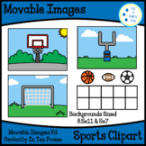 Movable/Moveable Images-Sports Clipart-Basketball, Footbal