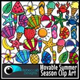 Movable Summer Season Clip Art