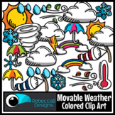 Movable Weather Colored Clip Art for Digital Resources
