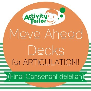 Move Ahead Decks for Final Consonant Deletion