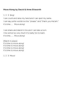 Move Along Song worksheet